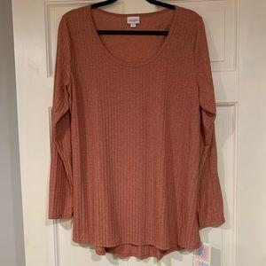 LuLaRoe rust colored Lynnae shirt 2XL NWT